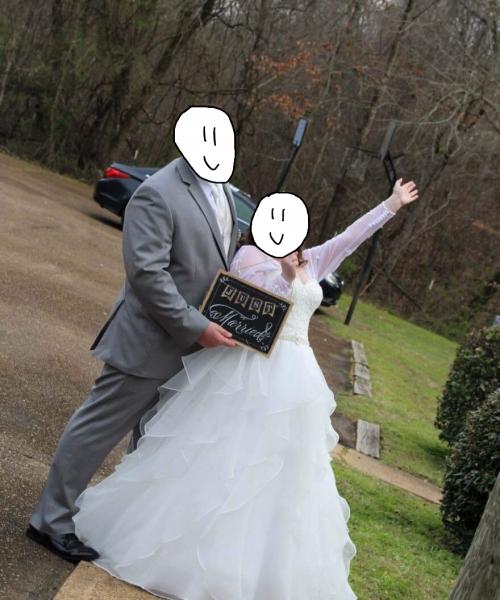 Size 10 Davids Bridal Wedding Dress For Sale In Jackson Mississippi